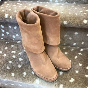 UGG Suede Fold Down Heeled Boots